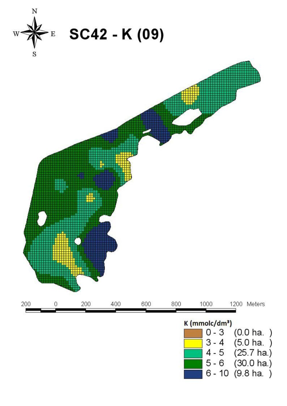 K - 2009 - Talhão SC42 - Fazenda Santa Clara - Tibagi-Pr